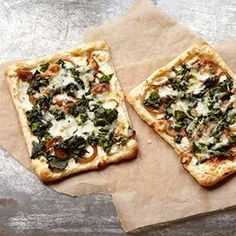 Puff Pastry Pizza with Broccoli Rabe and Caramelized Onions