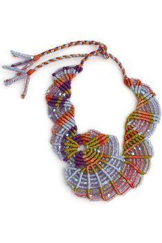 Celestial Flight macrame necklace