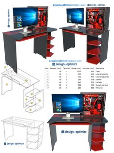 Office Table Design, Gaming Desk, Game Room Design, Gamer Room, Desk Setup, Entryway Decor, Woodworking Crafts, Diy Home Decor, Easy Diy