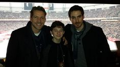 Aww... Sean, Jared, and Colin at a Vancouver Canucks game. From Colin's Twitter.