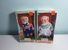 {vintage The Original Raggedy Ann and Andy} I had a Raggedy Ann doll, except my Raggy, as I called her, was home made and had to have her eyes and nose restitched every now and the .