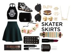 """Skater Skirt Contest"" by twentyoneduns927 ❤ liked on Polyvore featuring Chicwish, Chanel, Christian Dior, J.Crew, Eddie Borgo, Chico's, Charlotte Russe, Sydney Evan, Smashbox and Forever 21"