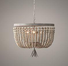 Delightful Order: DIY: Beaded Light Fixture (Contributor Post)