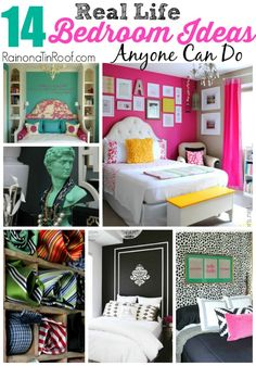 Great ideas that are do-able!  14 Real Life Bedroom Ideas Anyone Can Do via RainonaTinRoof.com #bedroom #DIY