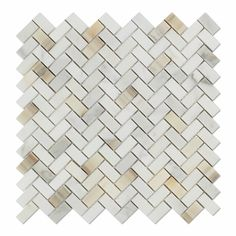"Buy Calacatta Gold Marble Polished Mini Herringbone Mosaic Tile Sample Product Attributes - Item: Premium (SELECT) Quality 5/8"" X 1 1/4"" Italian Calacatta Gold Marble POLISHED MINI HERRINGBONE MOSAIC"