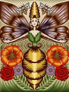 Bee Goddess, Q. Cassetti, Trumansburg, New York, 2010, Mixed Media