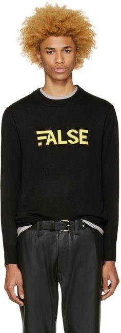 Public School - Black Gage Merino Pullover