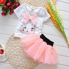 Ideas Fashion Kids Sport Girls For 2019 Baby Outfits, Toddler Girl Outfits, Baby Girl Dresses, Kids Outfits, Summer Outfits, Summer Dresses, Fashion Kids, Baby Kleidung Set, T-shirt Rock
