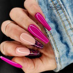 Creative Nail Designs, Creative Nails, Best Acrylic Nails, Hot Nails, Gorgeous Nails, Cool Nail Art, French Nails, Mani Pedi, Nail Trends