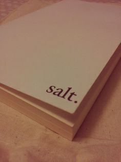 Salt. - Nayyirah Waheed --compilation of poetry is a must read for so many: those who are struggling with their position(s) in this world, multiple identity categories, healing from the geopolitical past of their ancestry and trying to make sense of life, lives, and who we want to be.
