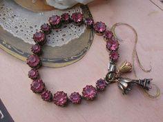 Pink RoseGoldvintage assemblage old ooak enamel by originalnoell, $38.00