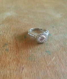 Peachy Queen: Champagne Peach Morganite Halo Engagement Ring