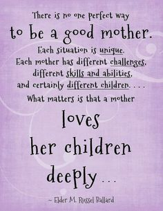 Exactly, do not judge a mother on her parenting!! We are not perfect! While your criticizing me someone is criticizing you!! Remember that, it's a circle.
