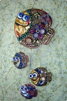 Поделка изделие Лепка Мои рыбки повторюшки Тесто соленое фото 1