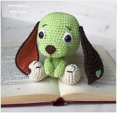 Häkelanleitung für ein süßes Hündchen / diy knitting instruction for a little dog by kertupertu heARTmade via DaWanda.com