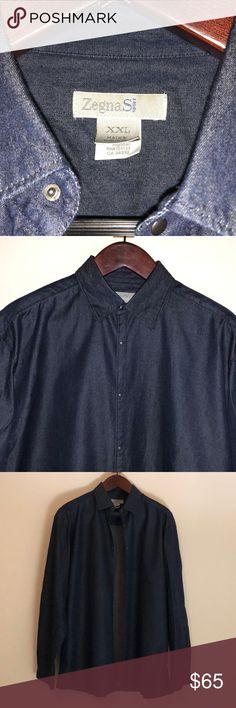 Dark Grey Ermenegildo Zegna Cotton Shirt Never worn. Ermenegildo Zegna Shirts Dress Shirts