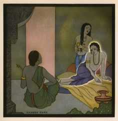 Artwork: Hamzeh Carr. 'And some maid told an ancient tale' 1926 http://wp.me/pn2J2-3OB Dr Marcus Bunyan
