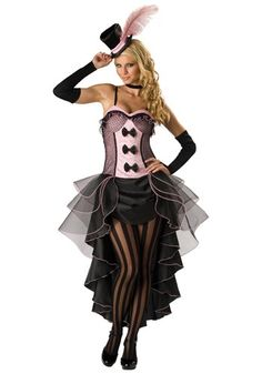 Can-can your way into any cowboy's heart with this Burlesque Dancer Costume. This sexy dancer costume for women is available in sizes S-XL.