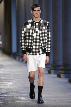 NEIL BARRETT Spring/Summer 2014 Menswear Collection Looks  #1