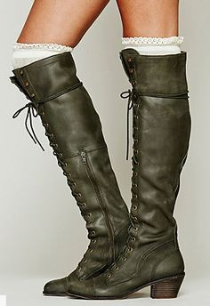 Joe lace up boot in khaki from Free People