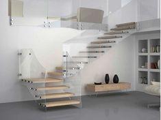 Escalera volada en madera y vidrio AKURA XC-XR
