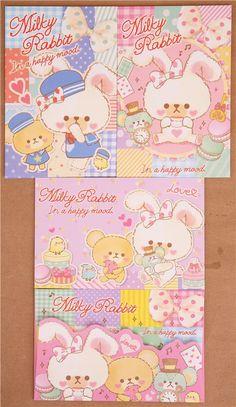Teddy bear Letter Set rabbit macaron 2