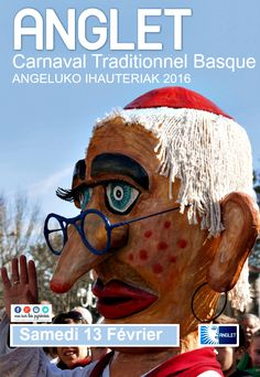 carnaval traditionnel basque d'Anglet ANGELUKO IHAUTERIAK 2016 Movies, Movie Posters, Carnival, Basque Country, Traditional, Films, Film Poster, Cinema, Movie