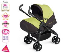 Lime 3D Pram and Pushchair System for Silver Cross