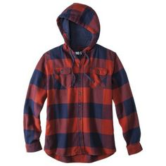 $30 TARGET Mossimo Supply Co. Men's Long Sleeve Button Down Hooded Flannel - Assorted Colors