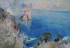 Giuseppe Casciaro (Ortelle, LE 1861 - Napoli 1941) - Capri