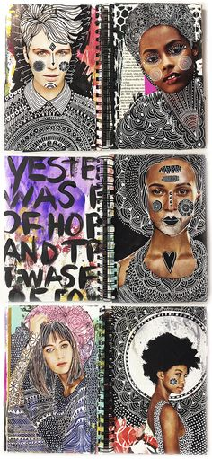 alisaburke: a peek inside my art journal: altered magazine pages