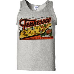 Vintage State Sticker Tennessee Asst Colors Tank Top - California Republic Clothes