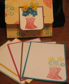 Flower Filled Notecard Holder for Open House by WonkaIsMyCat - Cards and Paper Crafts at Splitcoaststampers