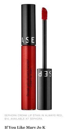 Sephora cream lip stain in always red