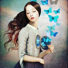 """Set Your Heart Free"" Digital Art by Christian Schloe posters, art prints, canvas prints, greeting cards or gallery prints. Find more Digital Art art prints and posters in the ARTFLAKES shop. Illustrations Vintage, Illustration Art, Fantasy Kunst, Fantasy Art, Free Art Prints, Wall Prints, Canvas Prints, Butterfly Art, Butterflies"