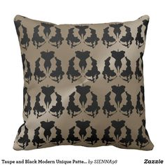 Taupe and Black Modern Unique Pattern
