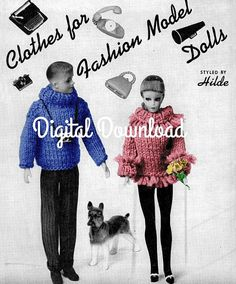 Gotta get this e-Book! 22 patterns the grands would love. Barbie and Ken Knitting Patterns 22 Patterns Ebook Booklet