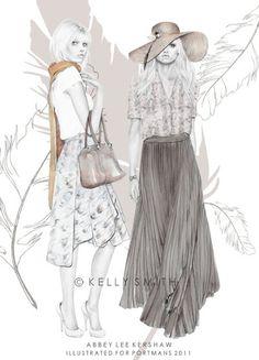 shu84: Kelly Smith Fashion Illustrations