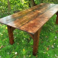 Barnes Handcrafted Farmhouse Tables - Event Rentals - Seven Valleys, PA - WeddingWire Rustic Table, Farmhouse Table, Rustic Decor, Amsterdam Houses, Dinner Table, Outdoor Dining, Diy Furniture, Rustic Furniture, Wood Projects