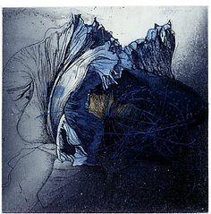 Shinji Ando / Print making - etching  http://newgroundsprintworkshopandgallery.blogspot.de/2008/10/japanese-printmaker-ando-shinji.html