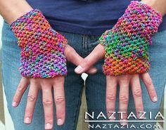 Easy Basic Beginner Crocheted Orchard Mitts Fingerless Gloves Mittens