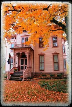 The House at the End of Autumn Street. Canandaigua, New York by TW Collins@flickr
