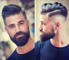 Men's Toupee Human Hair Hairpieces for Men inch Thin Skin Hair Replacement System Monofilament Net Base ( Beard Styles For Men, Hair And Beard Styles, Bart Styles, Beard Fade, Fade Haircut With Beard, Tapered Haircut, Full Beard, Awesome Beards, Undercut Hairstyles