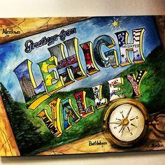 Great Lehigh Valley original painting!