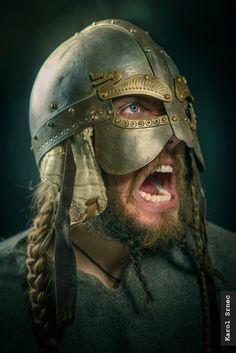 by Karol Srnec / Viking Armor, Viking Helmet, Medieval Armor, Viking Age, Guerrero Tattoo, Viking Facts, Ragnar Lothbrok Vikings, Armadura Medieval, Vegvisir