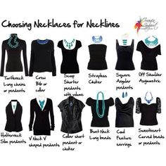Choose the right necklace for your tops neckline