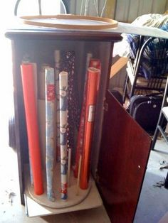 Thrift Store to Craft Room: Gift Wrapping Cabinet