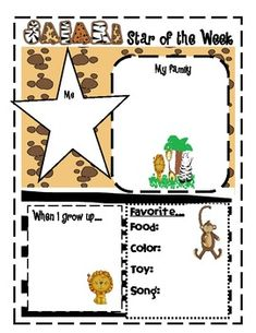 32 Page unit includes printable avery nametags with jungle animals, center signs, locker/cubby zebra print name signs, student of the week printabl...