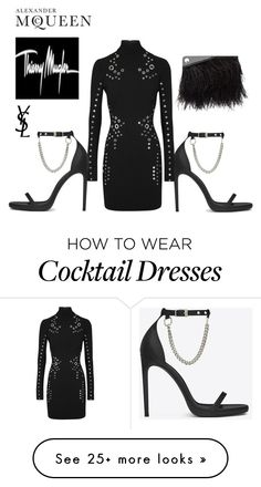 """""""Bold Luxury #Mugler #Mcqueen #ysl"""" by le-lola on Polyvore featuring Yves Saint Laurent, Thierry Mugler, McQ by Alexander McQueen and Alexander McQueen"""