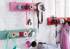 Handmade - Do it yourself: Hakenleiste als Garderobe